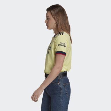 Camiseta segunda equipación Arsenal 21/22 Amarillo Mujer Fútbol