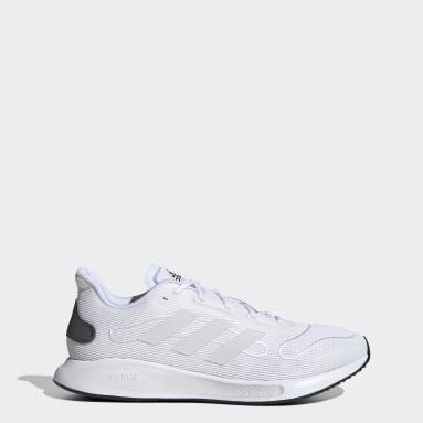 Men Running White Galaxar Run Shoes