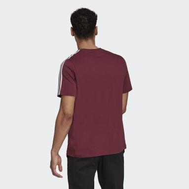 Männer Sportswear Essentials 3-Streifen T-Shirt Weinrot