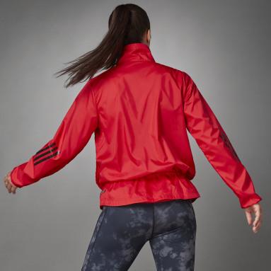 Cortavientos Woven Half-Zip Rojo Mujer Running