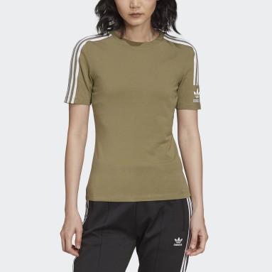 T-shirt Tight Verde Donna Originals