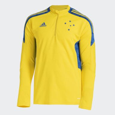 Moletom Treino Cruzeiro Amarelo Homem Futebol