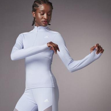 QUARTERZIP W Roxo Mulher Sportswear