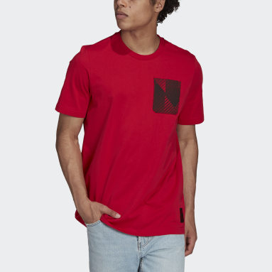 Men Football Red Manchester United Tee
