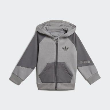Kids Originals Grey adidas SPRT Full-Zip Hoodie Set