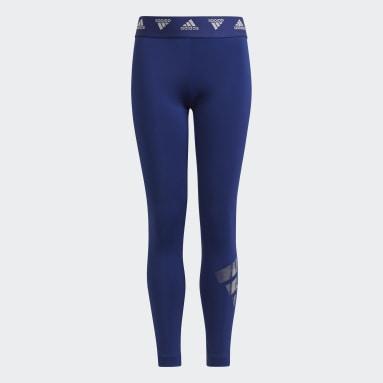 Mädchen Fitness & Training Primegreen AEROREADY Training Dance Move Doubleknit Metallic-Print Tight Blau