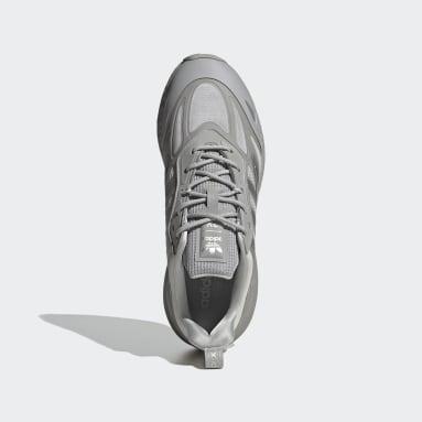 Men Originals Grey ZX 2K Boost 2.0 Shoes