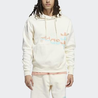 Sweat-shirt à capuche Logo Play Blanc Hommes Originals