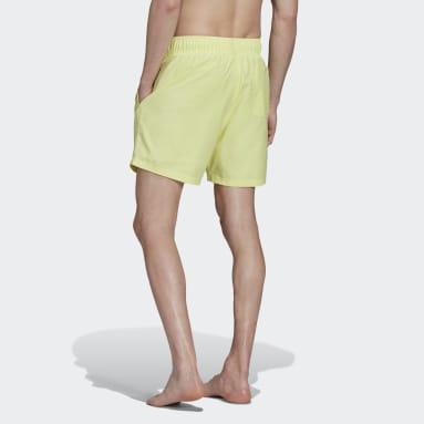 Men's Originals Yellow Adicolor Essentials Trefoil Swim Shorts
