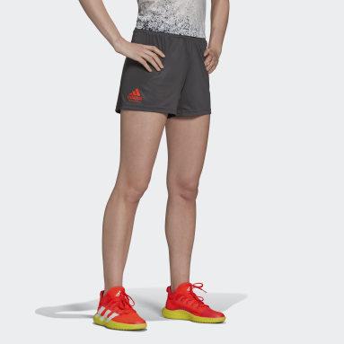 Pantalón corto entrenamiento Handball Gris Mujer Balonmano
