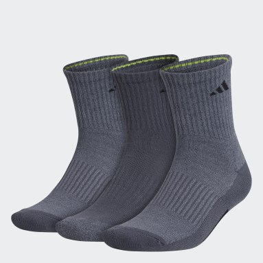 Men's Training Grey Cushioned X Mid-Crew Socks 3 Pairs