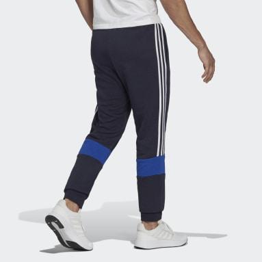 Calças em Fleece Essentials Azul Homem Sportswear