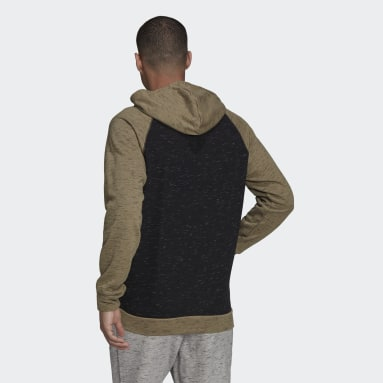 Herr Sportswear Svart Essentials Mélange Small Logo Hoodie