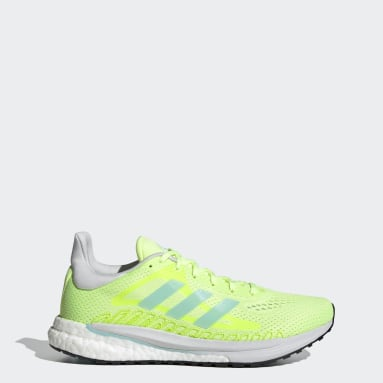 Women Running Yellow SolarGlide Shoes