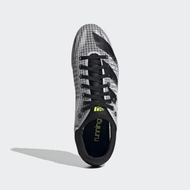 Männer Leichtathletik Sprintstar Spike-Schuh Weiß