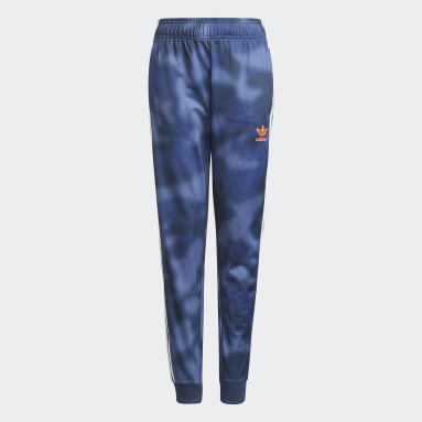 Youth 8-16 Years Originals Blue Allover Print Camo SST Tracksuit Bottoms
