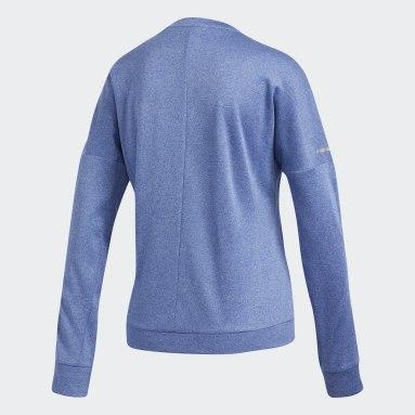 T-shirt Response Long Sleeve Bleu Femmes Hockey Sur Gazon