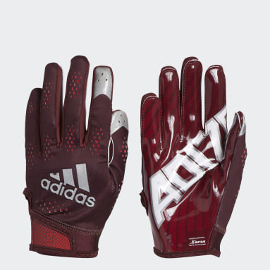 Men's Football Burgundy Adizero 11 Turbo Gloves