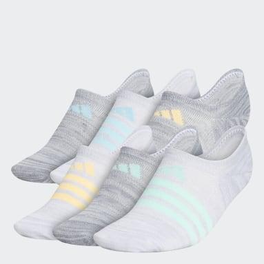 Women's Training Grey Superlite Super-No-Show Socks 6 Pairs