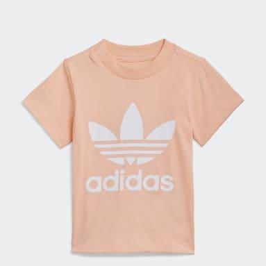 Kids Originals Pink Trefoil T-Shirt