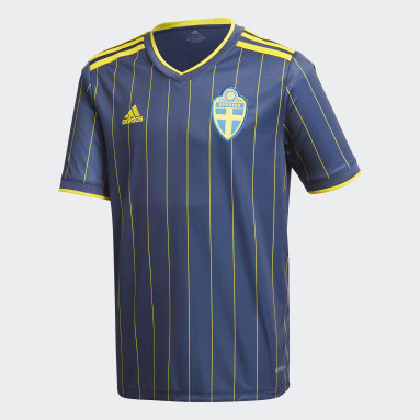Maillot Suède Extérieur Bleu Enfants Football