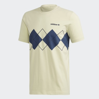 Men Originals Yellow Argyle T-Shirt