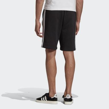 Shorts 3 Tiras - Tiro Medio Negro Hombre Originals