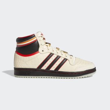 Men's Originals White Top Ten Hi ESPN Shoes