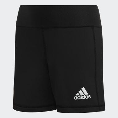 Children Volleyball Black Alphaskin Volleyball Shorts