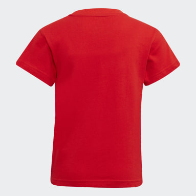Camiseta Adicolor Trefoil Rojo Niño Originals