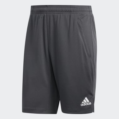 Men Yoga Grey All Set 9-Inch Shorts