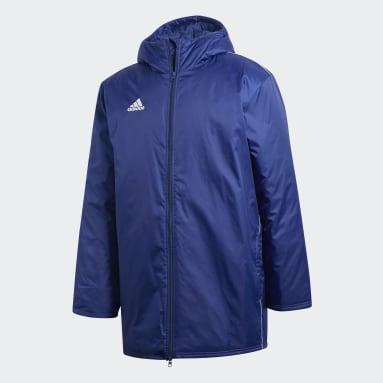 Männer Fußball Core 18 Stadium Jacke Blau