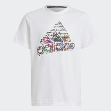 T-shirt adidas x LEGO® Graphic Bianco Ragazzo Fitness & Training