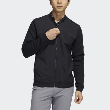 Men Golf Black Go-To Recycled Content Quilted Full-Zip Jacket