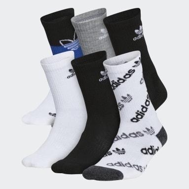 Children Originals White Mixed Crew Socks 6 Pairs