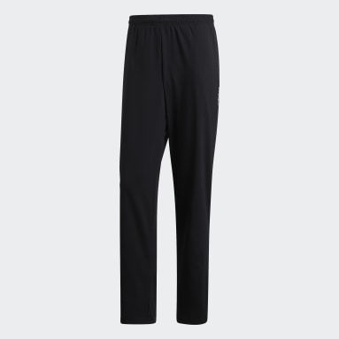 Pantaloni Essentials Plain Open Hem Stanford Nero Uomo Fitness & Training