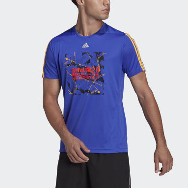 Camiseta Berlin Marathon Finisher Azul Hombre Running