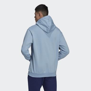 Men Originals Blue Graphics Trefoil Series Hoodie