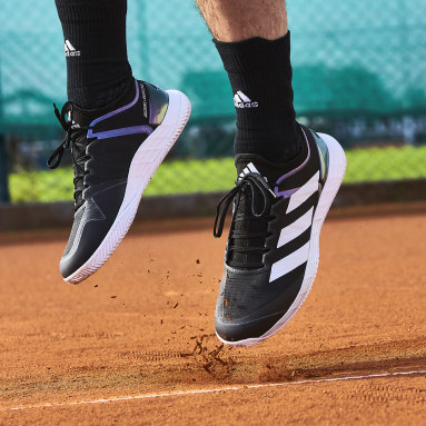 Men Tennis Black Adizero Ubersonic 4 Clay Shoes