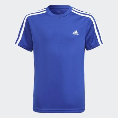 Boys Lifestyle Blue adidas Designed 2 Move Tee and Shorts Set