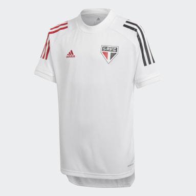 Camisa Treino São Paulo FC (UNISSEX) Branco Kids Futebol