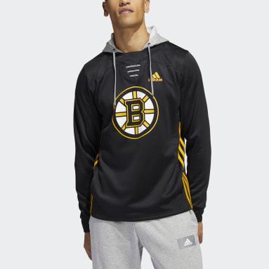 Men's Hockey Black Bruins Skate Lace Hoodie