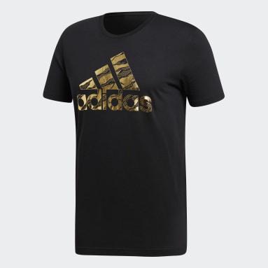 Camiseta Badge of Sport Camouflage Negro Hombre Running