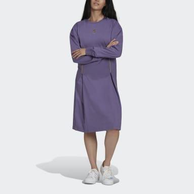 Robe Long Sleeve Violet Femmes Originals