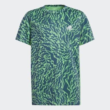Camiseta AEROREADY Primegreen Graphic Camo Verde Niño Gimnasio Y Entrenamiento