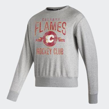 Sweat-shirt Flames Vintage Crew gris Hommes Hockey