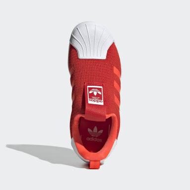 Kids 4-8 Years Originals Red Superstar 360 Shoes