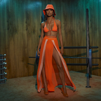 Women Originals Orange Swim Cover-Up Skirt