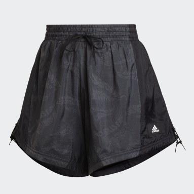 Women Sportswear Black adidas Sportswear Woven Lightweight Shorts