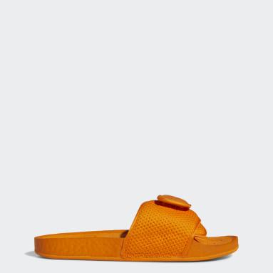 Männer Originals Pharrell Williams Chancletas Hu Badeschlappen Orange